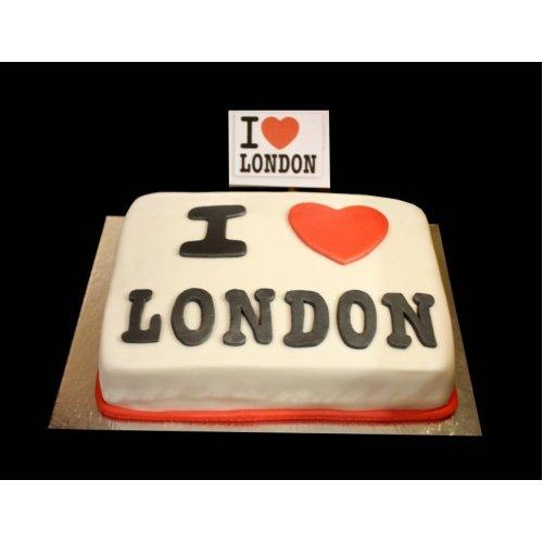 I Love London Cake