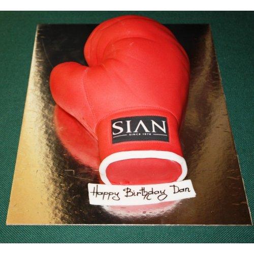 Boxing Glove Cake 2
