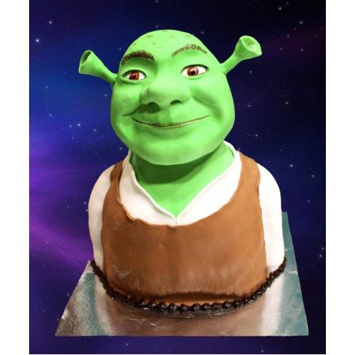 3d shrek cake 7