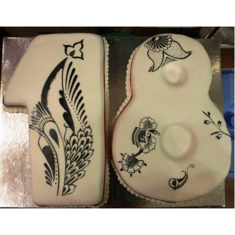 18th Birthday Henna Tattoo Cake
