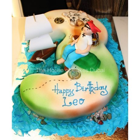 3rd birthday pirate theme cake 7