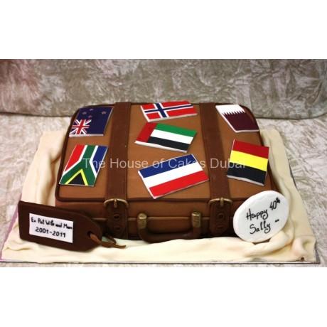Suitcase cake 2