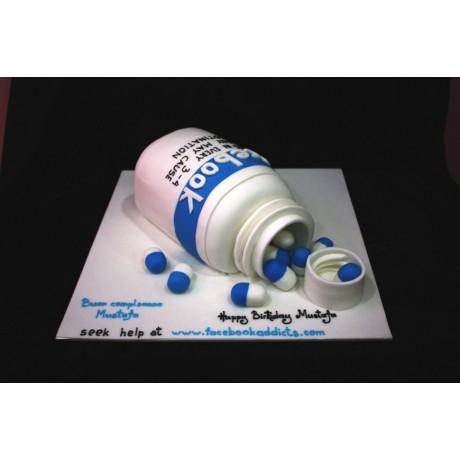 facebook addict pills cake 13