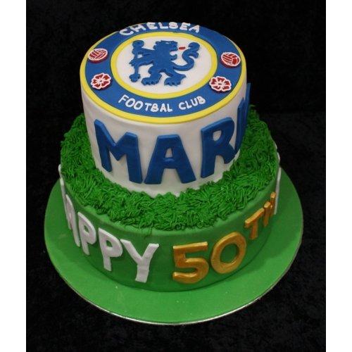 Astounding Cake Chelsea Personalised Birthday Cards Veneteletsinfo