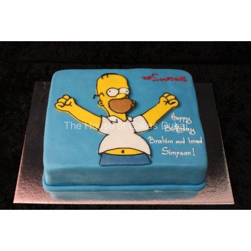 Swell Homer Simpson Cake Funny Birthday Cards Online Sheoxdamsfinfo