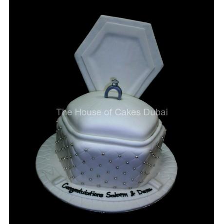 Engagement ring cake 6