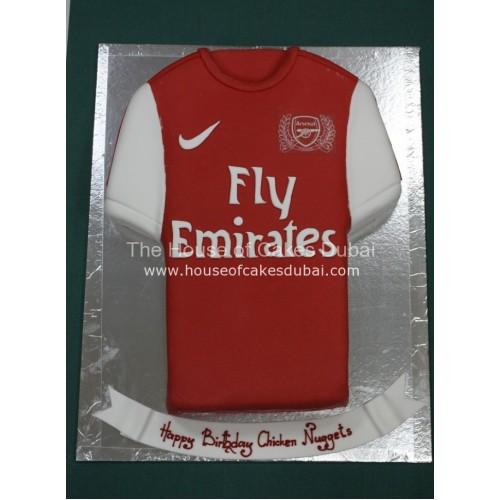 Arsenal shirt cake - red