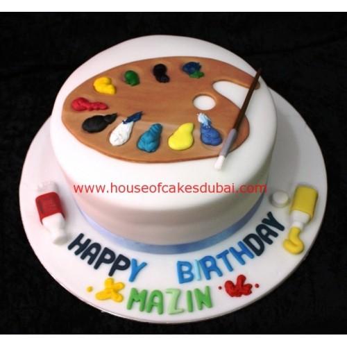 Artist palette cake 2