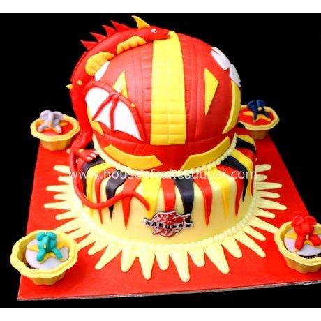 Bakugan Cake 3