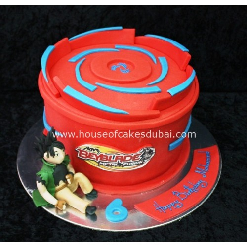 Beyblade cake red