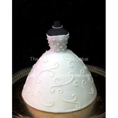 Bridal Dress Cake 2