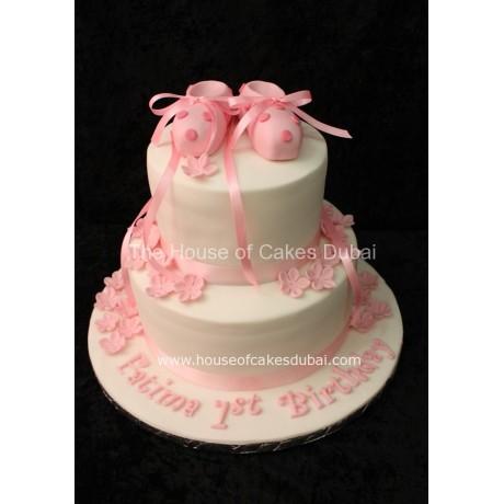 Ballet shoes cake 2