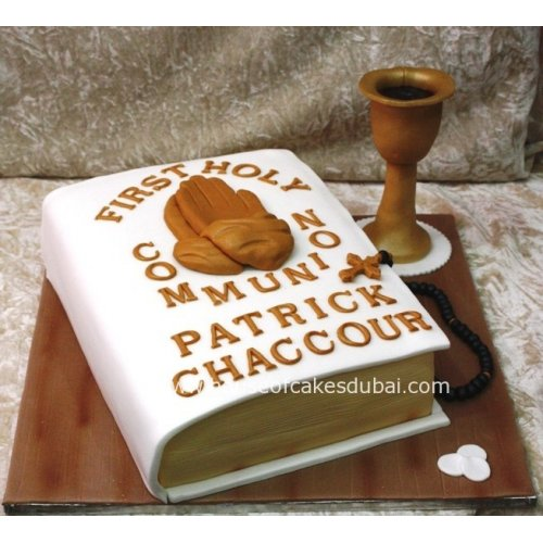 1st communion cake 2