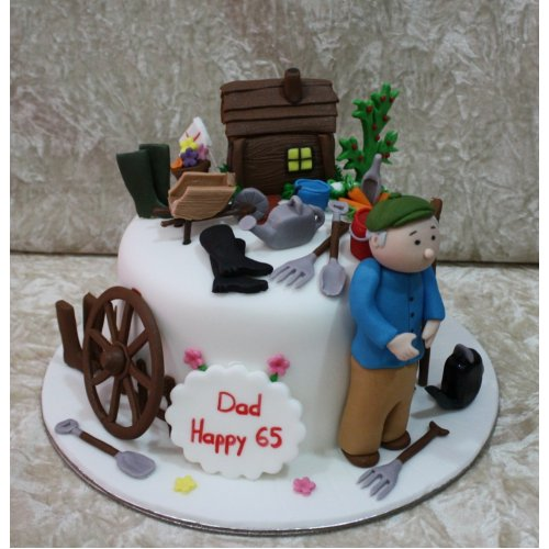 Awe Inspiring 65Th Birthday Cake Personalised Birthday Cards Cominlily Jamesorg