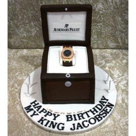 Miraculous Audemar Piguet Watch Cake Personalised Birthday Cards Arneslily Jamesorg
