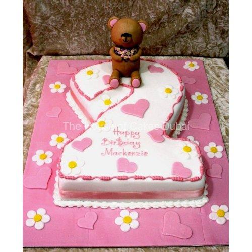 Surprising 2Nd Birthday Cake With Teddy Bear Funny Birthday Cards Online Drosicarndamsfinfo