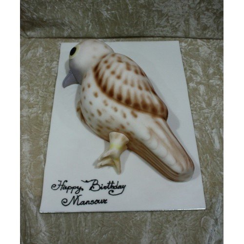 Bird shape cake