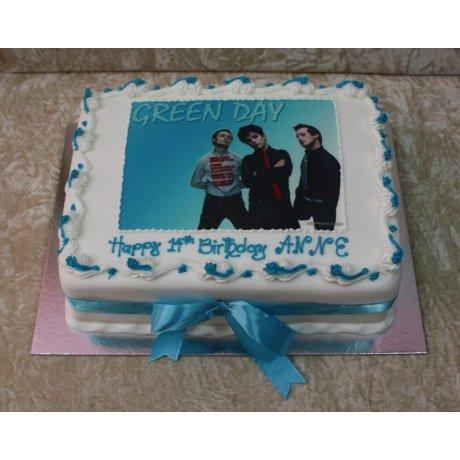 Green day cake