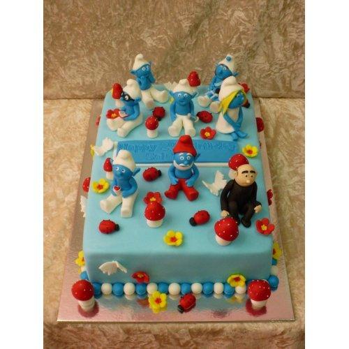 Brilliant Smurfs Cake 6 Funny Birthday Cards Online Overcheapnameinfo