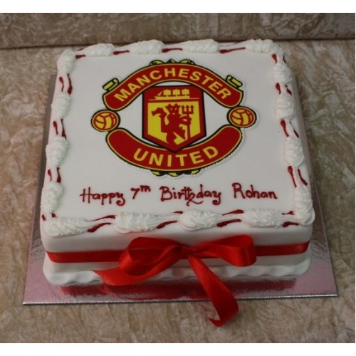 Tremendous Manchester United Cake 4 Birthday Cards Printable Nowaargucafe Filternl