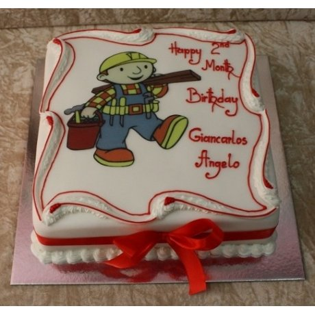 Bob The Builder Cake with photo 3