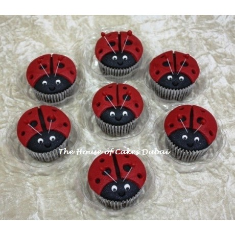 Ladybug cupcakes 1