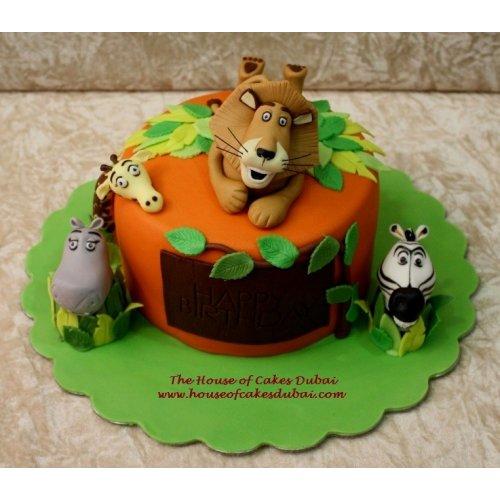 Fantastic Madagascar Cake 6 Funny Birthday Cards Online Alyptdamsfinfo