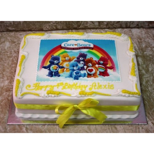 Swell Care Bears Cake Birthday Cards Printable Benkemecafe Filternl