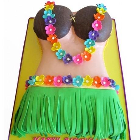 hula girl cake 3 6