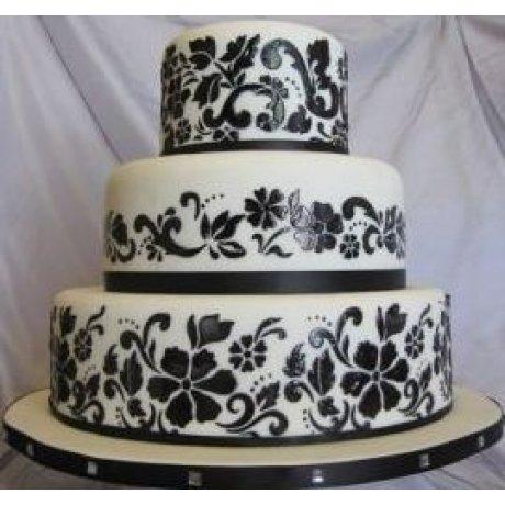 flower explosion cake stencil 7