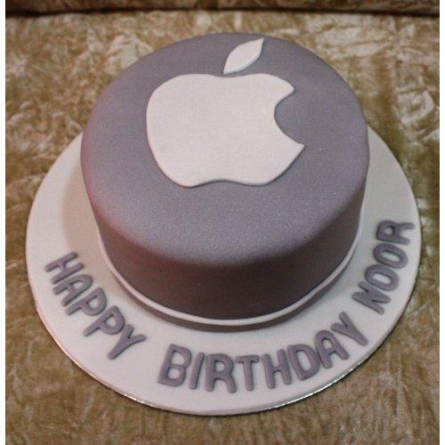 Apple logo cake