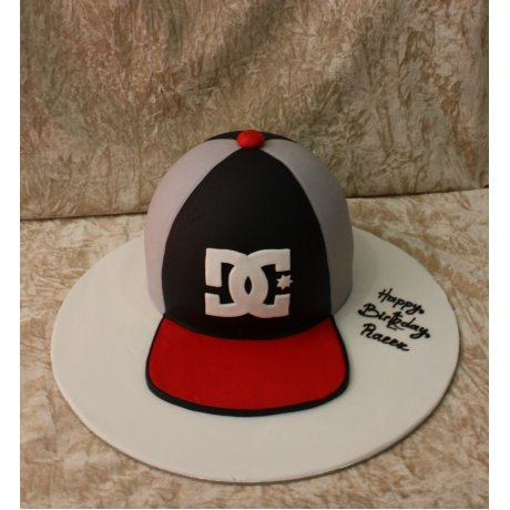 Baseball hat cake 2