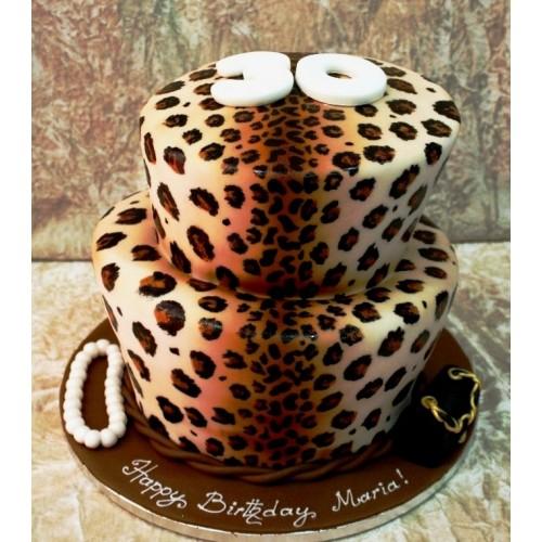 Surprising Leopard Print Topsy Turvy Cake Funny Birthday Cards Online Elaedamsfinfo