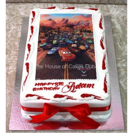 Cars  Cake with edible image 7