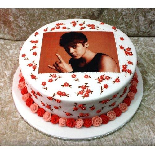 Tremendous Justin Bieber Cake 5 Funny Birthday Cards Online Elaedamsfinfo