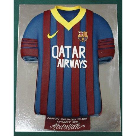 Barcelona shirt cake 3