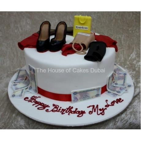 Born to shop cake 4