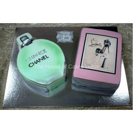 chanel perfume and louboutin cake 13