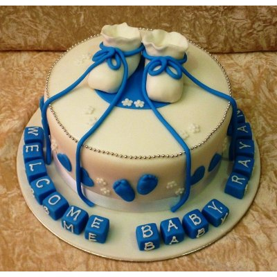 Baby booties cake 1