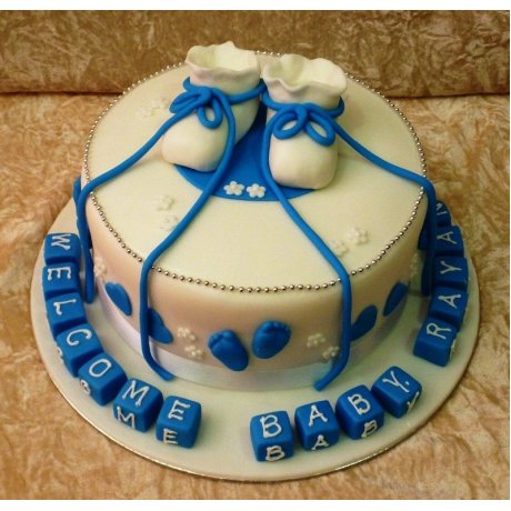 Baby booties cake 1
