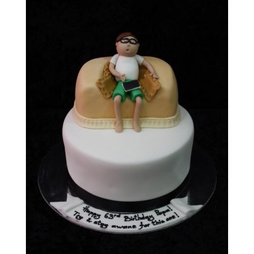 Armchair men cake