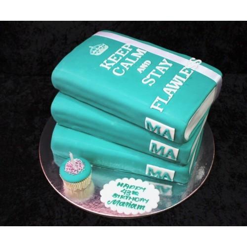 Books cake 4