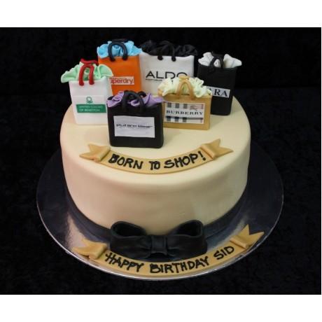 Born to shop cake 5