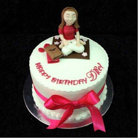 Yoga Theme Cake