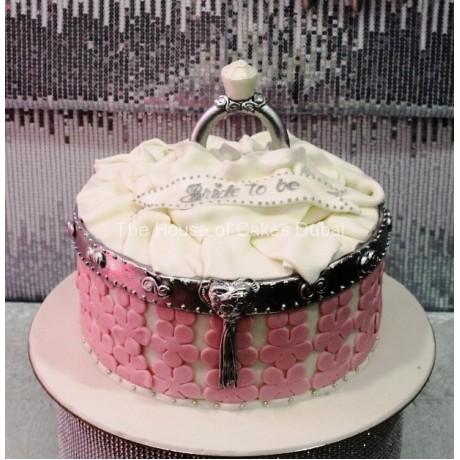 Engagement ring cake 8