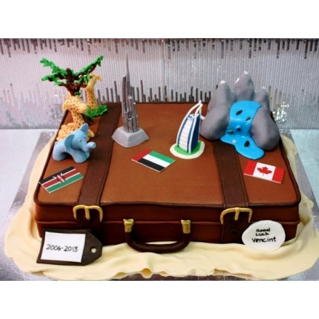 farewell suitcase cake 3 7