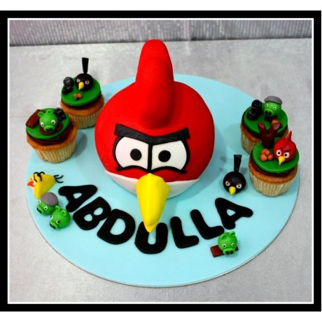 angry bird cake and cupcakes 7