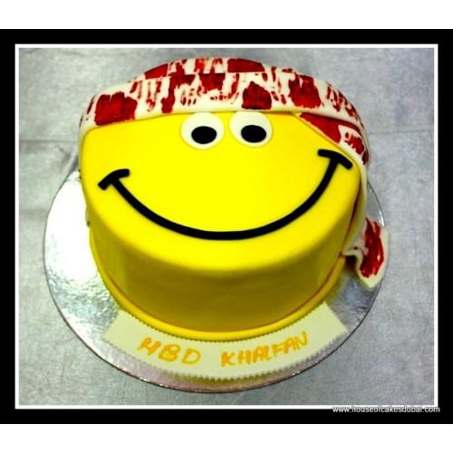 Arabic Smiley Face Cake