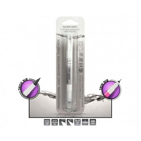 Edible food pen - Silver grey