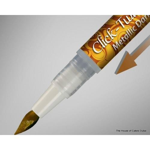 edible click-twist brush - dark gold 8